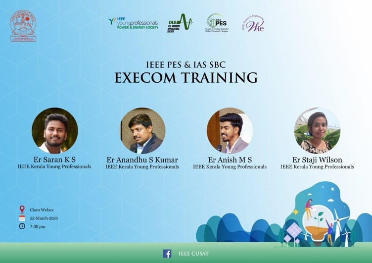 PES & IAS Execom Training 2020 – IEEE SB CUSAT