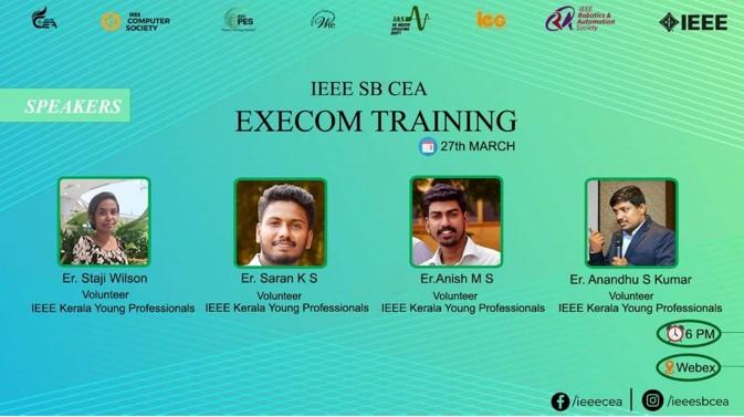 IEEE SB CEA Execom Training Webinar