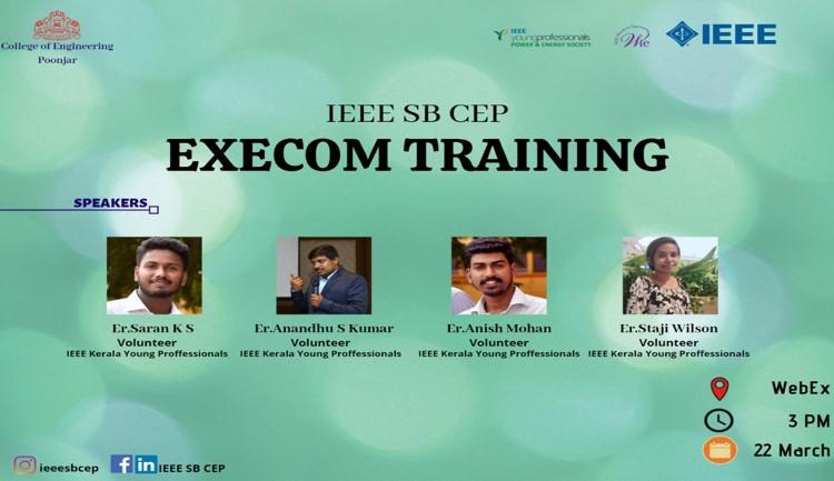 PES & IAS Execom Training 2020 – IEEE SB Poonjar