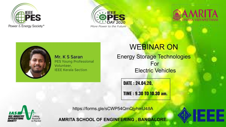 Read more about the article Webinar: Energy Storage Technologies for Electric Vehicles
