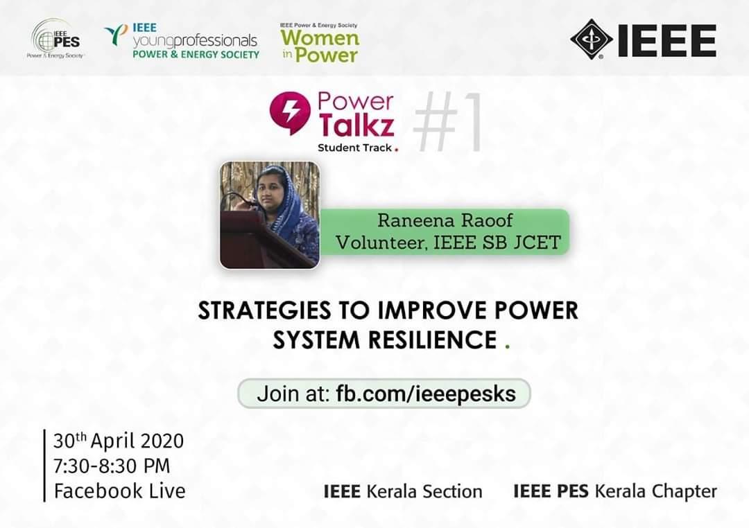 PowerTalkz: Strategies to Improve Power System Resilience