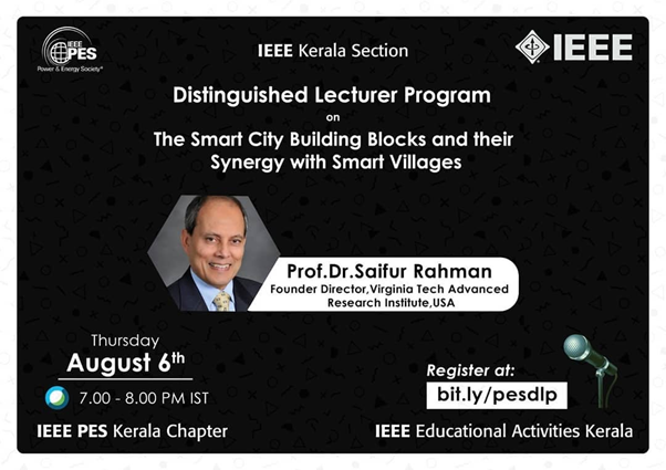 Read more about the article Distinguished Lecture Program: The smart City Building Blocks and their synergy with smart villages