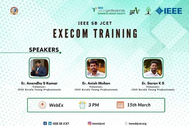 PES & IAS Execom Training 2020 – IEEE SB JCET