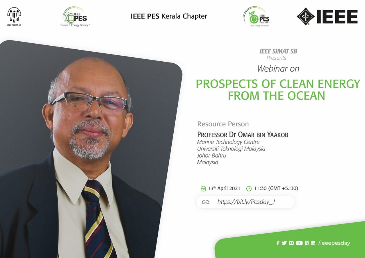Read more about the article Webinar: Prospects of Clean Energy from the Ocean