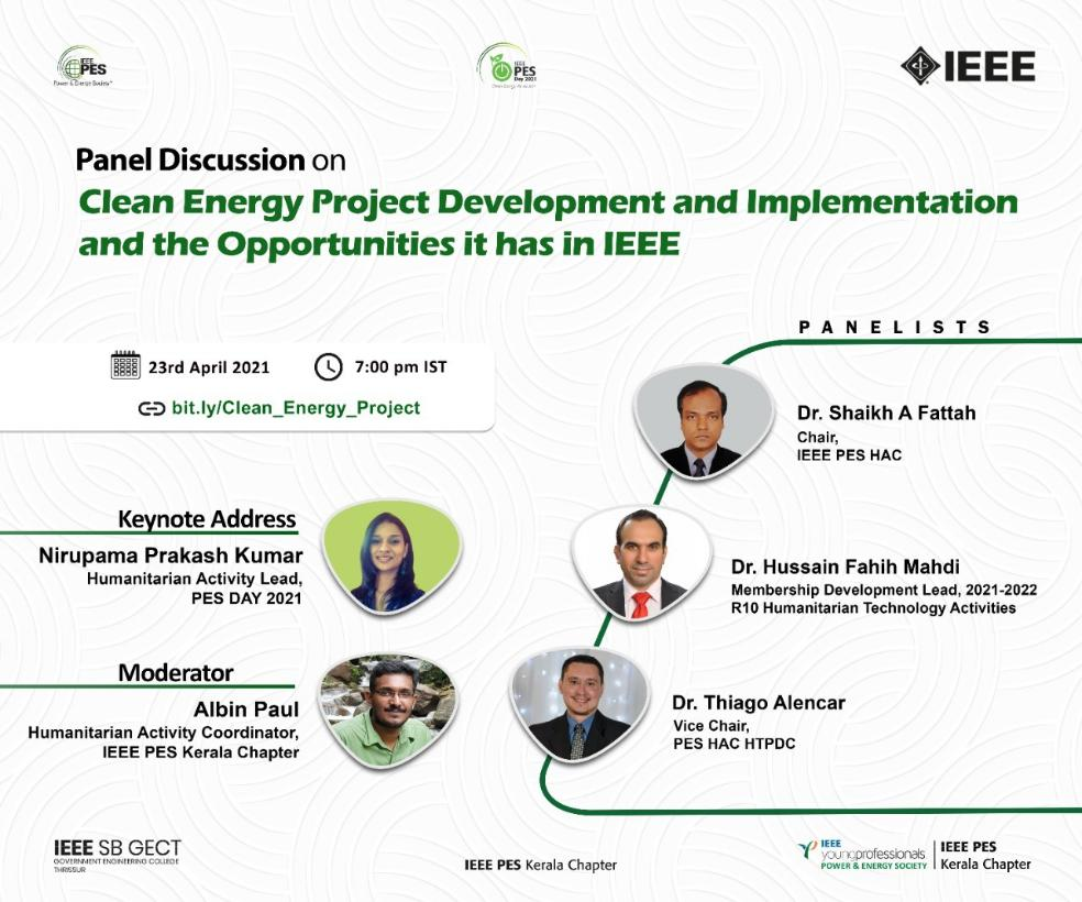 Read more about the article E-panel discussion on Clean Energy Project Development and the Opportunities it has in IEEE