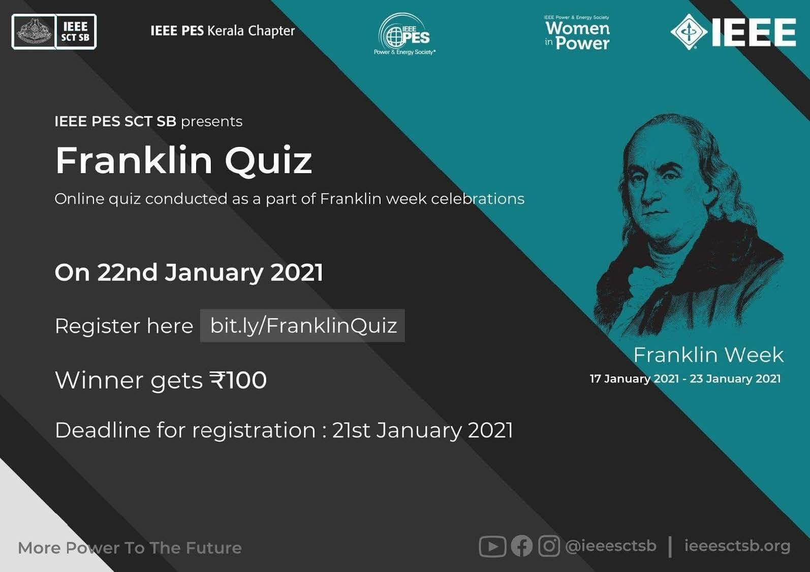 Read more about the article REMEMBERING LEGENDS 2.0:- Franklin Quiz