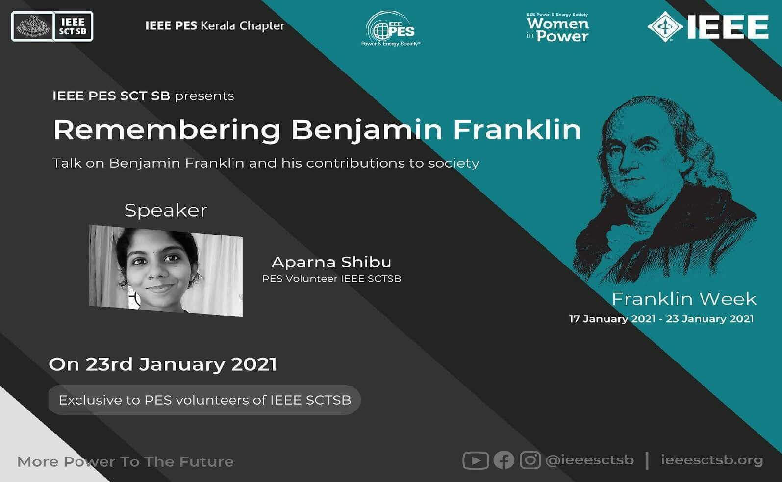 Read more about the article REMEMBERING LEGENDS 2.0:- Talk on Remembering Benjamin Franklin