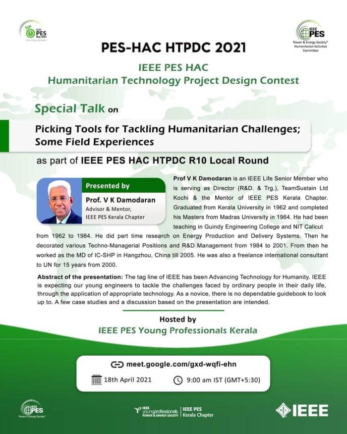 Read more about the article Special Talk: Picking Tools for Tackling Humanitarian Challenges; Some Field Experiences